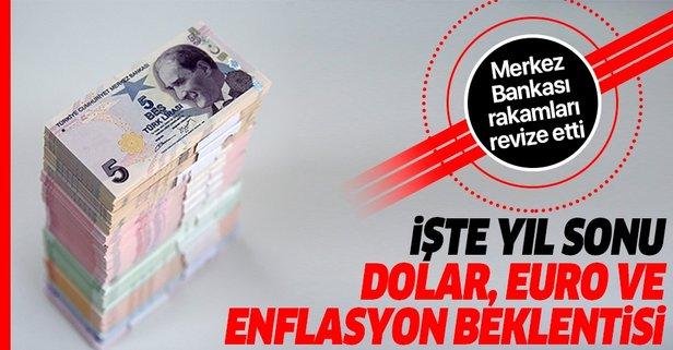 Merkez Bankası yılsonu dolar ve enflasyon beklentisini açıkladı